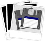 Photo of diskettes Stock Photo