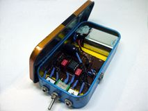 Photo of do-it-yourself & x28;DIY& x29; amplifier for headphone and earphones. Royalty Free Stock Photos