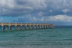 Dock in Miami. Photo of a dock in Miami USA stock image