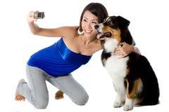 Photo With Dog Royalty Free Stock Photo
