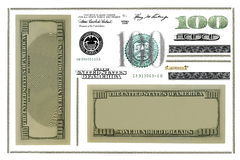 Photo dollar bill elements isolated on white Royalty Free Stock Image