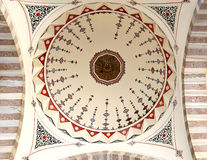 Photo dome in the Turkish mosque Royalty Free Stock Image