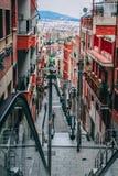 Photo of Downstairs Between Orange Buildings Stock Images