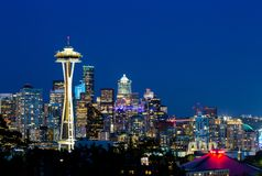 Photo of Downtown seattle from Kerry Park Seattle royalty free stock photos