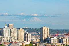 Photo of Downtown seattle from Kerry Park Seattle royalty free stock image