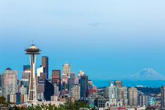 Photo of Downtown seattle from Kerry Park Seattle royalty free stock images