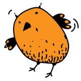 Photo drôle étonnée mignonne de bande dessinée d'Eagle-hibou Illustration de vecteur de couleur sur le fond blanc Photo libre de droits