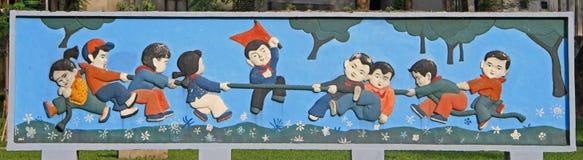 Photo drôle sur la rue à Hanoï Photo stock