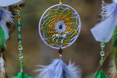 Photo of a dreamcatcher made by hand Stock Photography