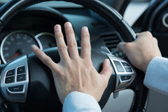 Photo of driver honking Stock Photos