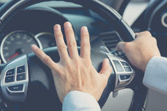 Photo of driver honking,transportation Royalty Free Stock Images