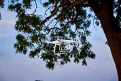 Photo drone. In the air Stock Images