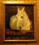 Photo du cheval blanc de ` original de peinture, ` de gazelle par Henry de Toulouse-Lautrec Photo stock