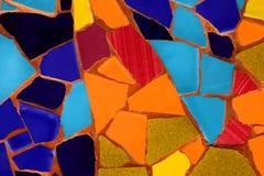 Photo du modèle de mosaïque en céramique fait dans l'heure d'été en Espagne Photos stock
