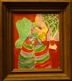 Photo du ` original de peinture le ` rayé de robe par Henry Matisse Photos libres de droits