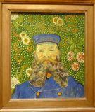 Photo du portrait original célèbre de ` de peinture du ` de Joseph Roulin par Vincent van Gogh Photographie stock libre de droits