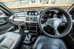 Photo du tableau de bord dans la voiture photo libre de droits