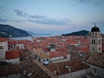 Hight view of dubrovnik city stock image