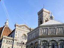 Photo of the Duomo di Firenze taken on a sunny morning. Royalty Free Stock Image