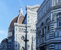 Photo of the Duomo di Firenze taken on a sunny morning. Royalty Free Stock Images