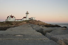 Photo of Eastern Point Lighthouse in New England stock image