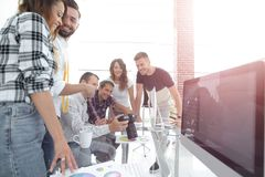 Photo editors discussing new ideas. In the creative office.the concept of teamwork Stock Photography