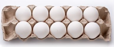 Photo of eggs package. Stock Photos