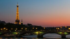 Photo of Eiffel Tower With Lights Stock Image