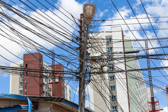 Photo of an electric pole Stock Image