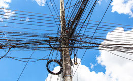 Photo of an electric pole Stock Photography