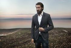 Photo of elegant handsome stylish man stock photos
