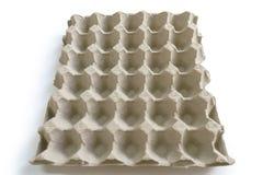 An empty egg tray. Photo of empty egg tray stock photo