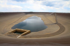 Photo of the empty water reservoire Dlouhe Strane Stock Images