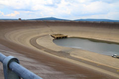 Photo of the empty water reservoire Dlouhe Strane Royalty Free Stock Image