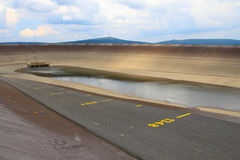 Photo of the empty water reservoire Dlouhe Strane Stock Photography