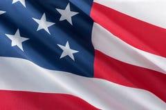 Photo en gros plan d'onduler le drapeau américain photo libre de droits