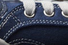 Photo en gros plan de fond de texture d'espadrilles de jeans Photo libre de droits