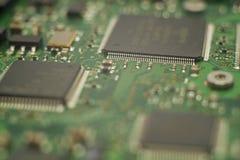 Photo en gros plan de mainboard de disque d'unité de disque dur image libre de droits