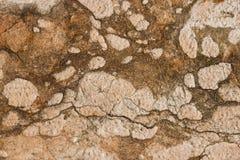 Photo en gros plan de mur en pierre antique blanc et rouge naturel images libres de droits