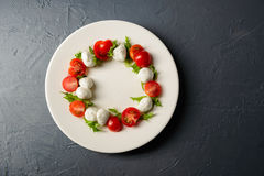 Photo en gros plan de salade caprese Photographie stock libre de droits