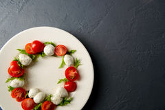 Photo en gros plan de salade caprese Photographie stock
