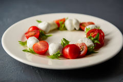Photo en gros plan de salade caprese Image libre de droits