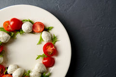 Photo en gros plan de salade caprese Photos stock