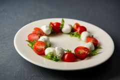 Photo en gros plan de salade caprese Photos libres de droits