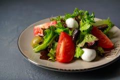 Photo en gros plan de salade fraîche de vitamine de ressort Images libres de droits