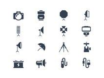 Photo Equipment Icons Stock Photo