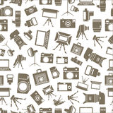Photo equipment sillhouettes Royalty Free Stock Photography