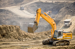 Photo of excavator in Hpa Kant jade mine, Myanmar Stock Photos