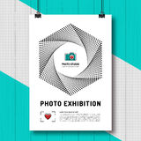 Photo exhibition design template poster or flyer Royalty Free Stock Photography