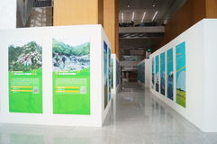 Photo exhibition for outdoor activities Stock Photos